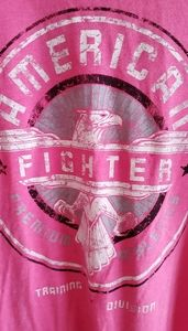 Pretty In pink! American fighter graphic Tee! XXL